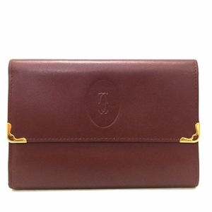 Must De Cartier Bordeaux Leather Trifold Wallet